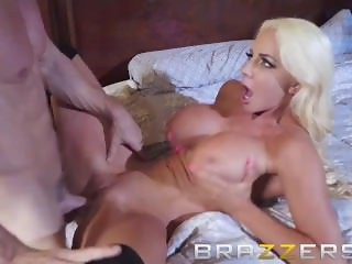 Brazzers -  Busty blonde Nicolette Shea turns photoshoot into a fuck fest