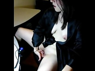Girlfriend Reluctantly Masturbates Online