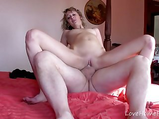 Blonde Amateur MILF Spanked And Fucked Sore