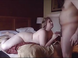 chuby girl strips sucks and fucks