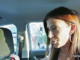 Busty Milf Sara Jay fucks Her Hot Black Ride Share Driver!