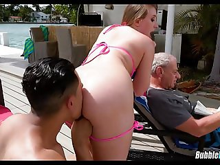 Dad doesn't know She is Fucking