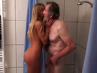 very old men with perfect blonde