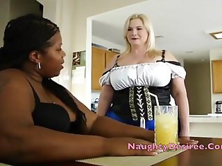PAWG Maid Desiree gets the drinks