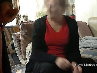 Mother in law staring at my hard cock wile i jerk off an cum