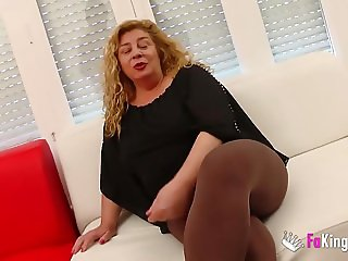 Hot mature masseuse fucks her client for us