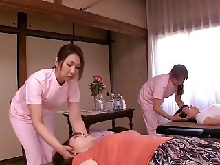 Gorgeous Asian women getting the sensual treatment that they