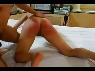 spanked asian girl
