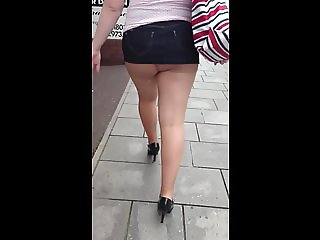 Mini skirt and tights