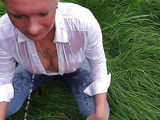 mydirtyhobby angelalpha Outdoor Peeing in Angels Mouth