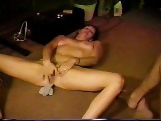 ex carla inserting stocking in strip poker game