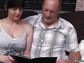 Wife finds him cheating with blonde BBW