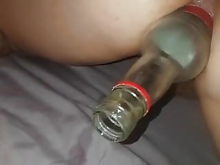 British fabswinger fucked with  bottle