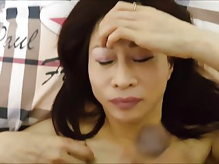 Asian whore unwanted facial & orgasm