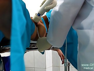 Vibro orgasm on gyno chair (44)