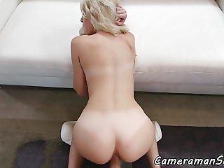 Glamorous beauty POV banged from behind