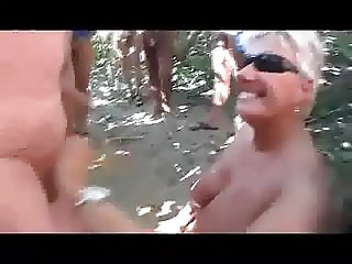 Mature wife taking loads of cum public beach