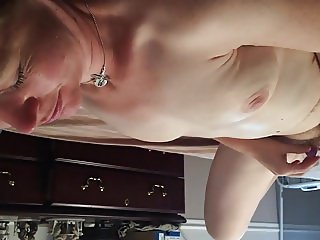 Naked, Spread Eagle, and Masturbating with my Vibrator
