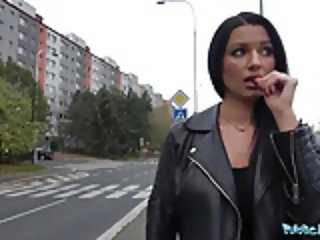 Public Agent MILF loses handbag and her panties