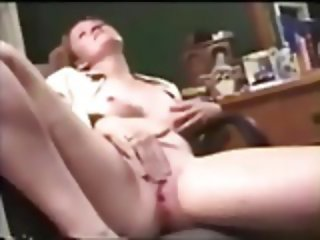 School Teacher Wife Jilling Off for Cameraman