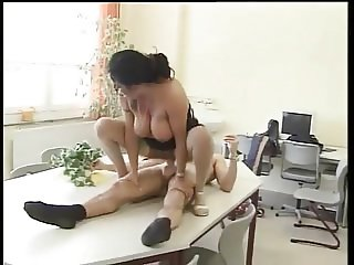 Anastasia Big Saggy Tits Teacher Fucks Student in stockings