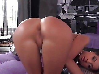 Melena Pleasing Her Asshole and Pussy