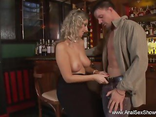 Anal Sex On The Bar With Blonde