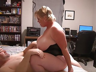 Huge Tit Mature Blonde Gets Butt Fucked