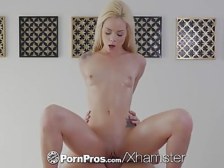 PornPros Oiled down blonde massage fuck with Elsa Jean