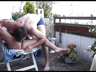 Mature Couple Balcony Fuck