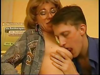 Russian mature teacher Natalie fucked by student