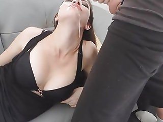 Facial Destroy and Playing with Cum 02 HD