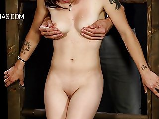Boob torture for redhead