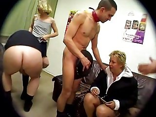 Blondes getting group fucked