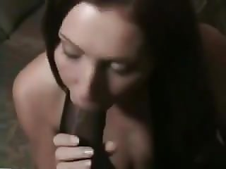 Interracial gorgeous ginger blowjob and facial