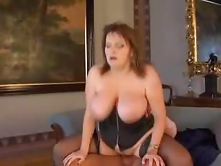 Huge Saggy Tits BBW Fucked In Black Stockings