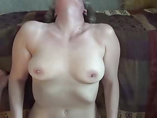 Sexy MILF fucks and swallows a 7 inch cock