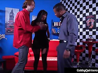 MexiMilf Gaby Quinteros Fucks A White Boy & Big Black Cock!