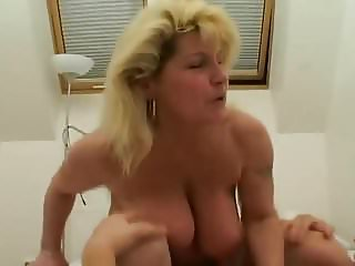 Saggy Tits MILF fucked White Stockings