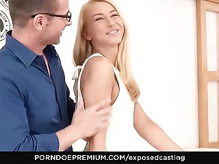 EXPOSED CASTING - Katrin Tequila dick sucking and riding