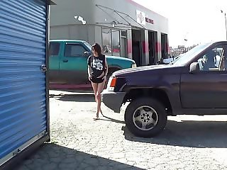 April flashing at the tire place