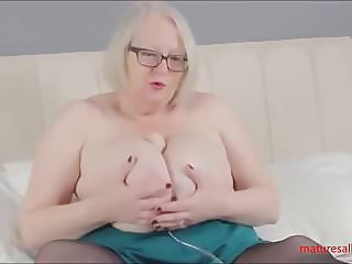 Playing with dildo