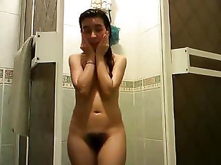 hairy shower teen
