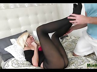 Mom Stretched In Lingerie