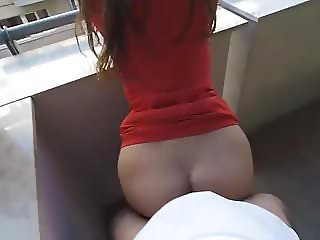 A good fuck in the morning on the balcon