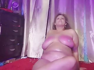 BBW Ursula Shows Off Her Painted Melons