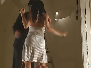 Nude BDSM model Alex Zothberg tied + whipped by a stranger
