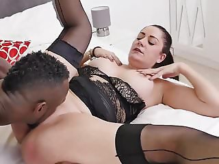 Curvy British Mature Interracial