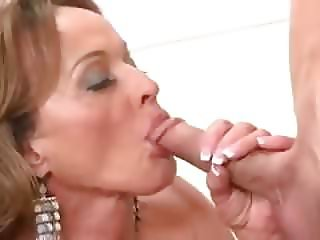 Dirty Busty Gilf Takes BWC In Ass