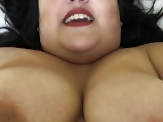 Fucking Hairy BBW GF in Hotel Bed